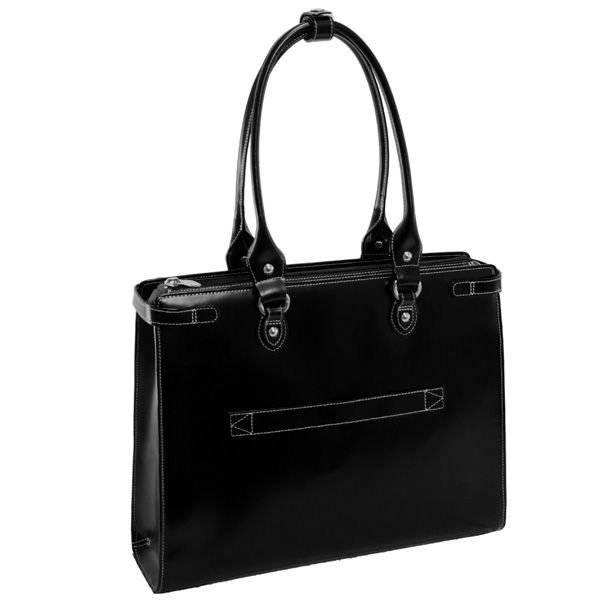 """Mcklein Winnetka 94835 skórzana torba damska na laptopa 15,4"""" czarna"""