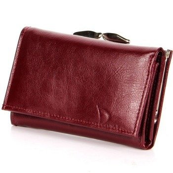 DAN-A P139 bordowy skórzany portfel damski