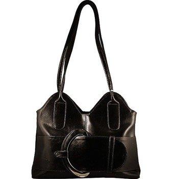 DAN-A T10 czekoladowa torebka skórzana damska