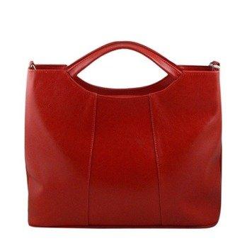 DAN-A T105 czerwona torebka skórzana damska aktówka