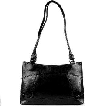 DAN-A T163 czarna torebka skórzana damska