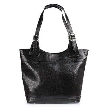 DAN-A T195A czarna torebka skórzana elegancka
