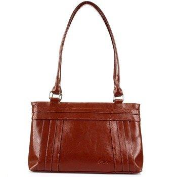 DAN-A T21 koniakowa torebka skórzana damska