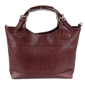 DAN-A T214 koniakowa torebka skórzana damska kuferek