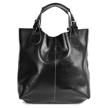 DAN-A T219 czarna torebka skórzana damska shopper bag
