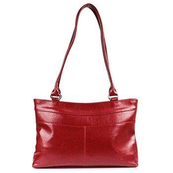 DAN-A T239 czerwona torebka skórzana damska