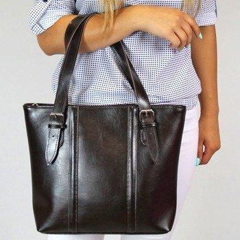 DAN-A T251 czekoladowa torebka skórzana elegancka