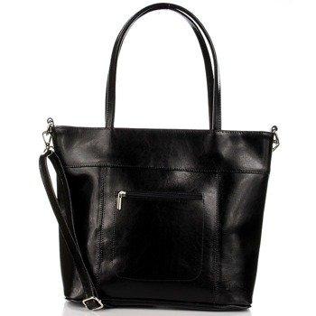 DAN-A T278 czarna torebka skórzana damska elegancka