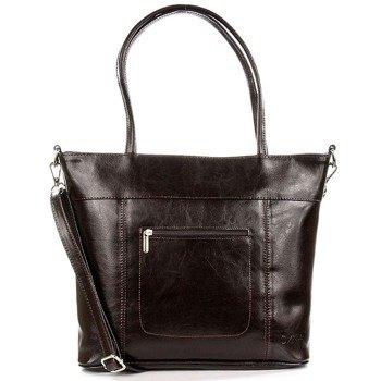 DAN-A T278 czekoladowa torebka skórzana damska elegancka
