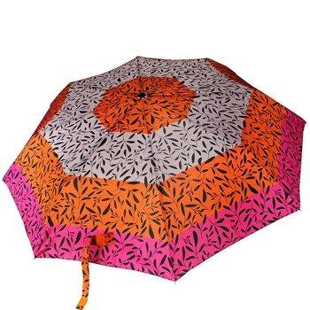 DOPPLER PA49 parasol składany półautomatyczny różowo-pomorańczowo-szary