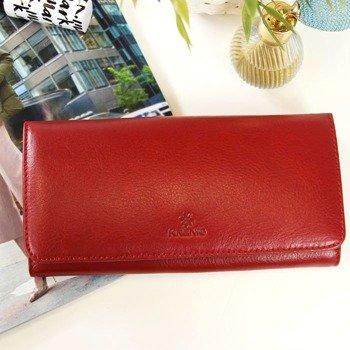 9efc92a602af6 Portfel skórzany damski KRENIG Classic 12026 czerwony w pudełku