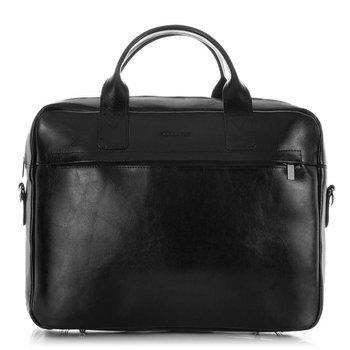 Skórzana torba męska na laptopa 17' BRODRENE BL03XL czarna