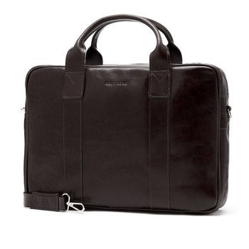 9a81e8e7d6025 Skórzana torba męska na laptopa BRODRENE R01 ciemnobrązowa