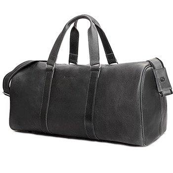 Skórzana torba męska podróżna BRODRENE BL20 grafitowa