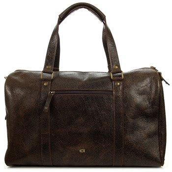 Skórzana torba podróżna unisex ciemnobrązowa DAAG JAZZY WANTED  91