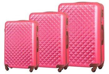 Zestaw walizek podróżnych stl190 koralowy