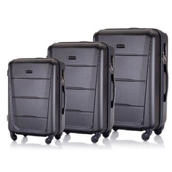 Zestaw walizek podróżnych twardych ABS SOLIER STL946 c.szary