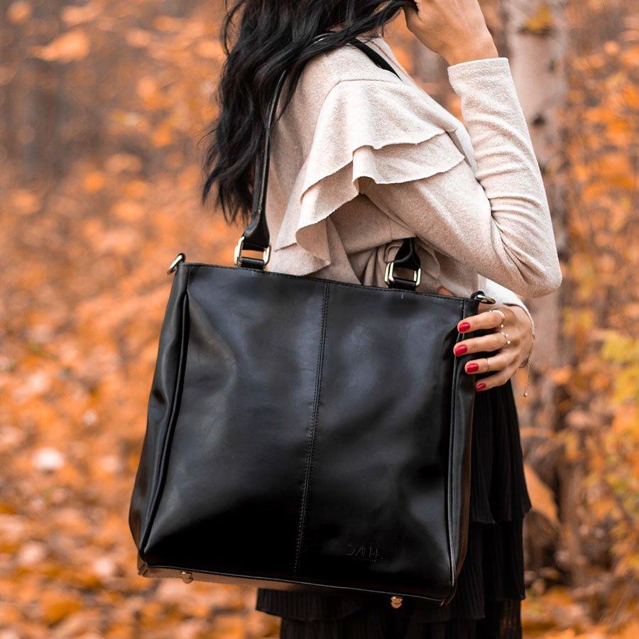 Czarna torebka skórzana damska aktówka DAN A T177B