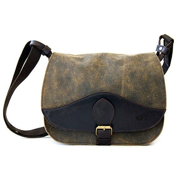 DAAG Jazzy Risk Up 138 brązowa skórzana torba na ramię unisex