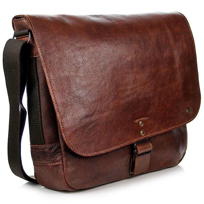 DAAG Jazzy Run 2 skórzana torba na ramię unisex koniakowa