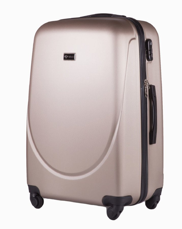632c1f2af0100 Duża walizka podróżna na kółkach SOLIER STL310 L ABS champagne ...