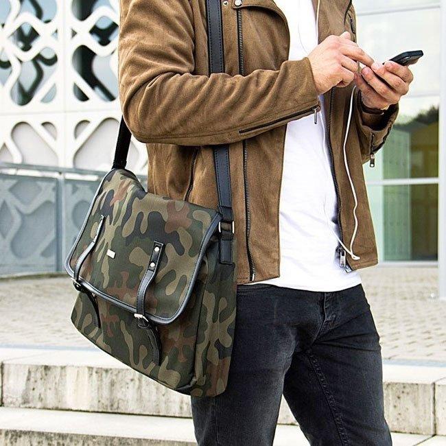 6d04853502fea Listonoszka męska torba na ramię S17 KNOCK moro -  16524 ...