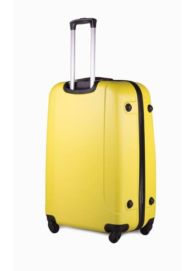 2833484a2debc Mała walizka podróżna na kółkach (bagaż podręczny) SOLIER STL310 S ABS  zółta ...