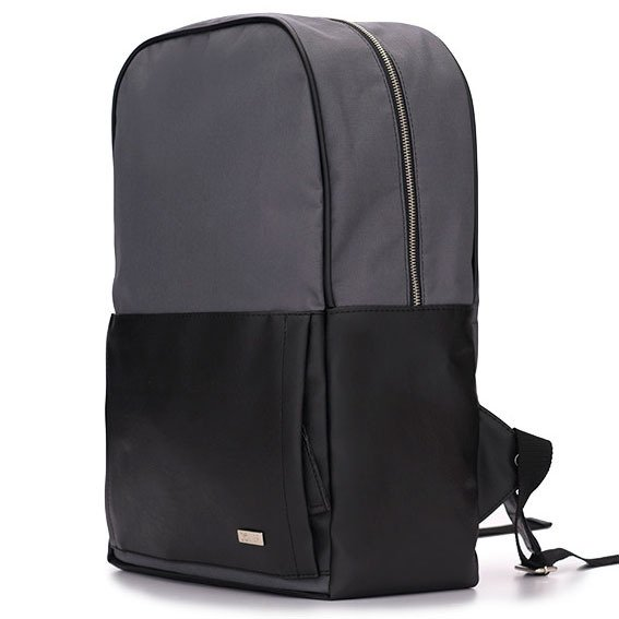 adbd8e4de883f ... Męski plecak miejski na laptopa Solier SR01 FORRES szaro-czarny ...