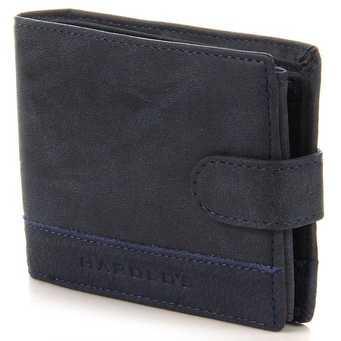 Półskórzany granatowy portfel męski GA3