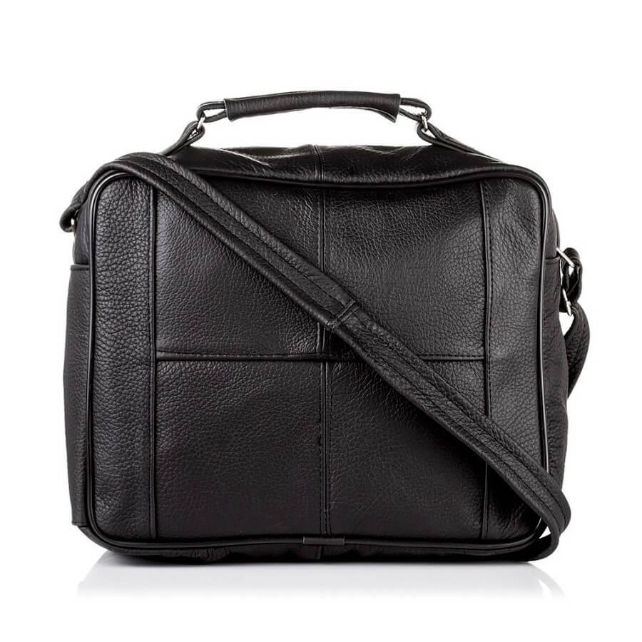 Skórzana torba męska do pracy czarna PAOLO PERUZZI B 01