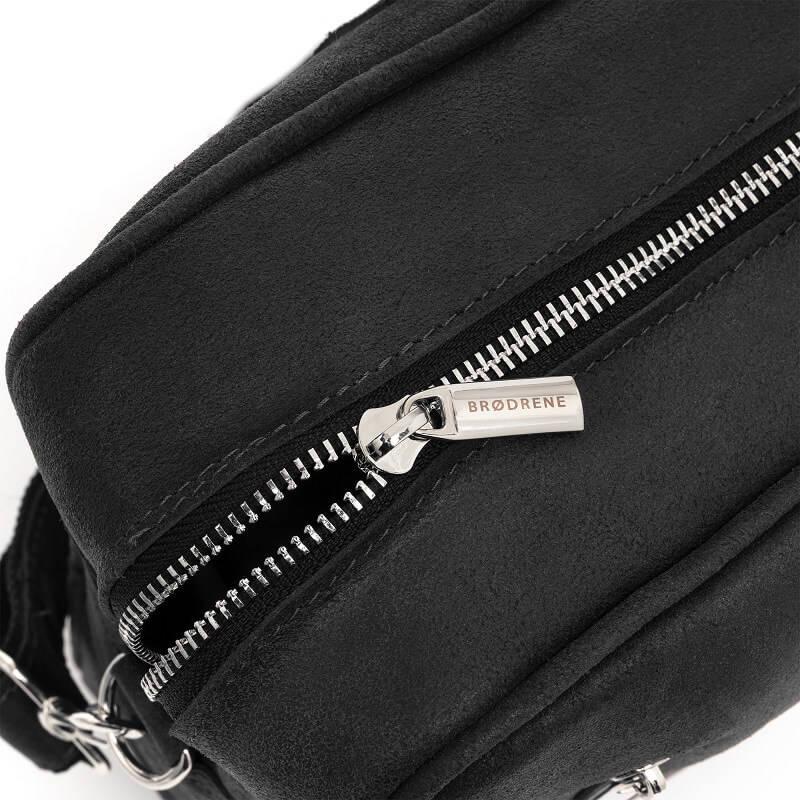 b338671f1ad21 Skórzana torba męska na laptop BRODRENE BL02 czarna -  14233 ...