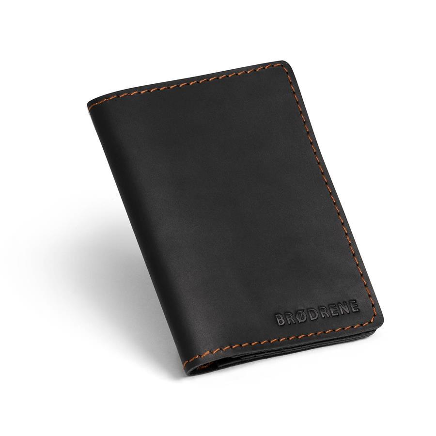 8963e04608a60 Skórzany cienki portfel slim wallet BRODRENE SW01 czarny -  14261 ...
