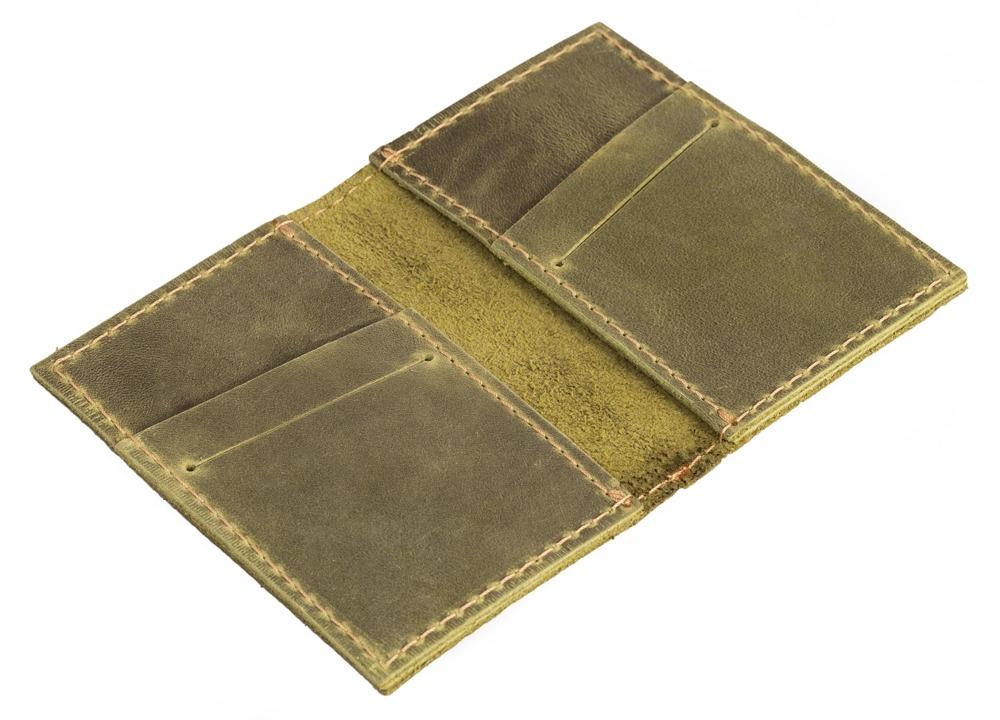 40a051c5837a0 Skórzany cienki portfel slim wallet BRODRENE SW03 oliwkowy -  17027 ...