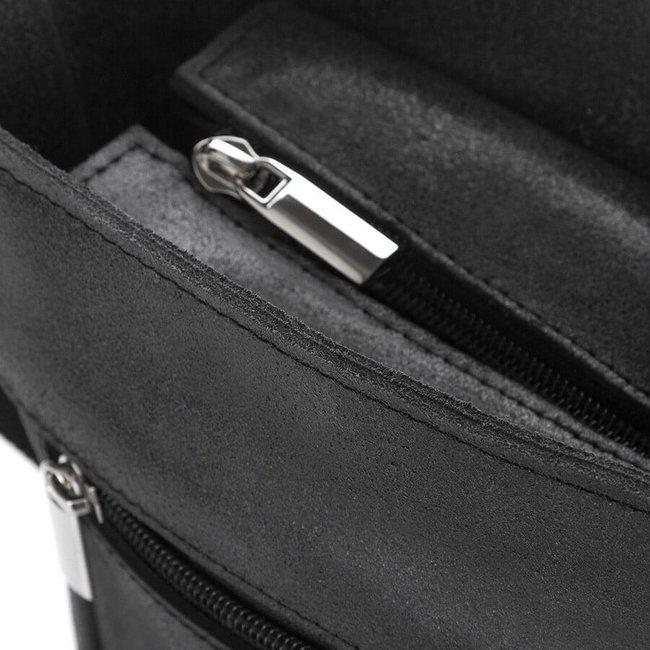 Listonoszka męska skórzana torba Paolo Peruzzi czarna S-21