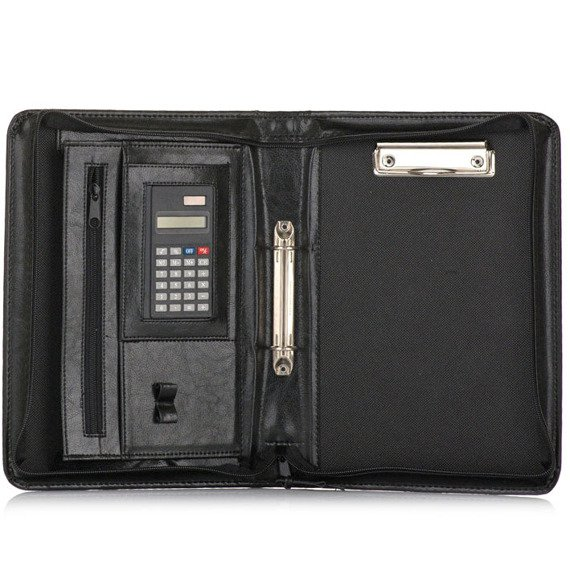 Aktówka biwuar na dokumenty A5 z kalkulatorem Solier ST02 czarny