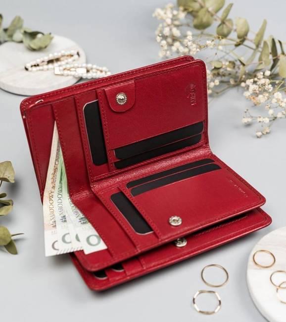 Badura portfel damski PO_D103CR_CE czerwony