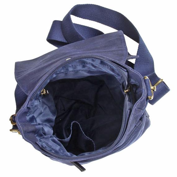 Bawełniana torba na ramię unisex 2JUS by DAAG Zone 2 granat