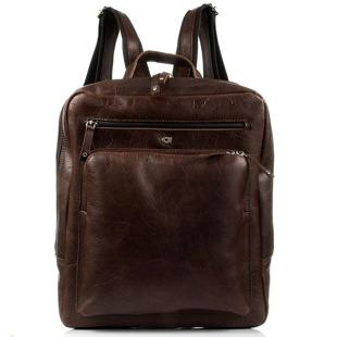 DAAG FUNKY GO! 20 brązowy plecak skórzany na netbook unisex