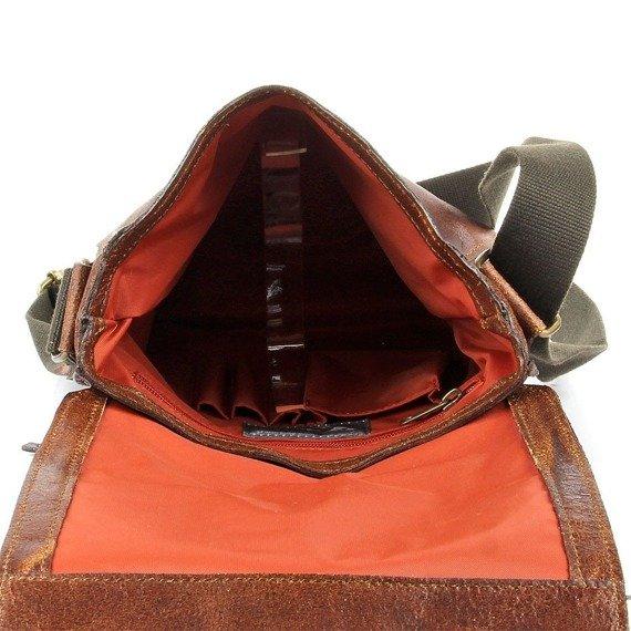DAAG Jazzy Organic 3 koniakowa skórzana torba na ramię unisex