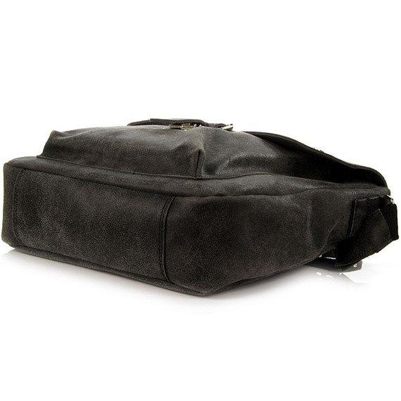 DAAG Jazzy Risk 36 czarna torba skórzana unisex listonoszka przez ramię