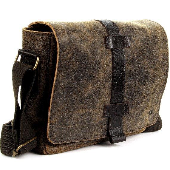 DAAG Jazzy Risk Up 142 brązowa skórzana torba na ramię unisex