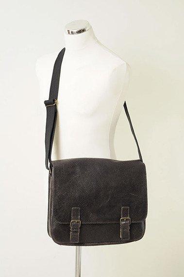 DAAG Jazzy Wanted 10 ciemnobrązowa torba skórzana unisex listonoszka przez ramię