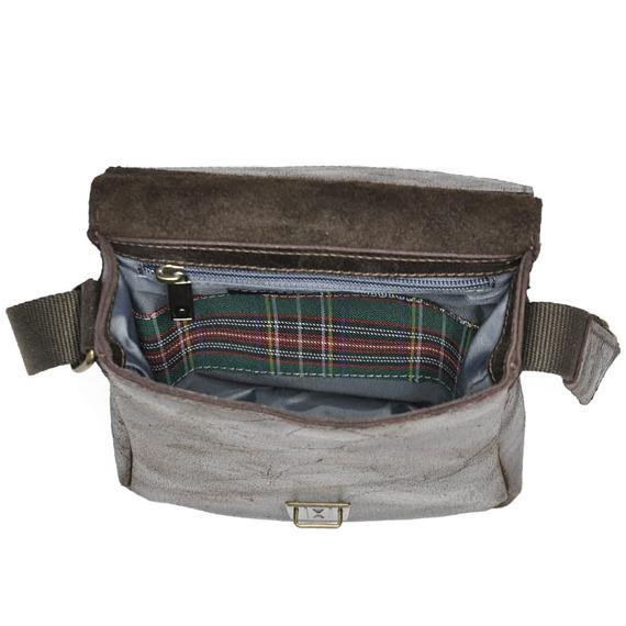 DAAG Jazzy Wanted 86 ciemnobrązowa torba skórzana unisex listonoszka przez ramię