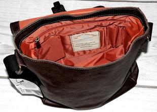 DAAG Organic 5 brązowa torba skórzana na ramię unisex