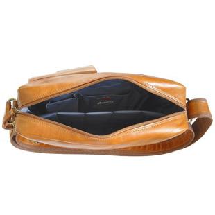 DAAG Take Away 4 koniakowa torba skórzana na ramię tablet unisex