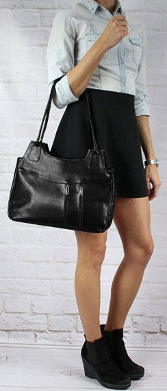 DAN-A T1 czarna torebka skórzana damska