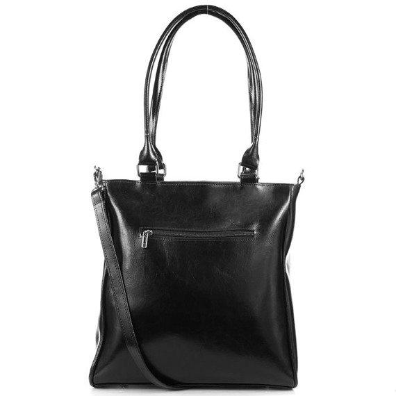 DAN-A T177 czarna torebka skórzana damska