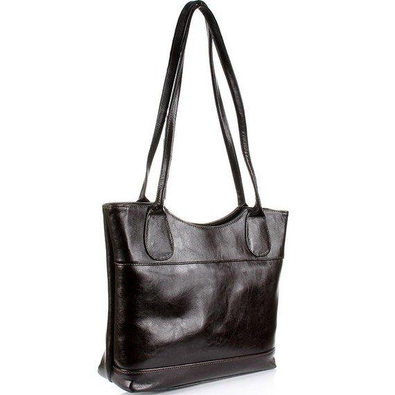 DAN-A T235 torebka skórzana damska czekoladowa