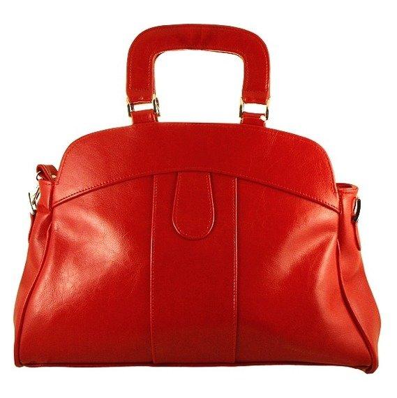 DAN-A T25 czerwona torebka skórzana damska kuferek