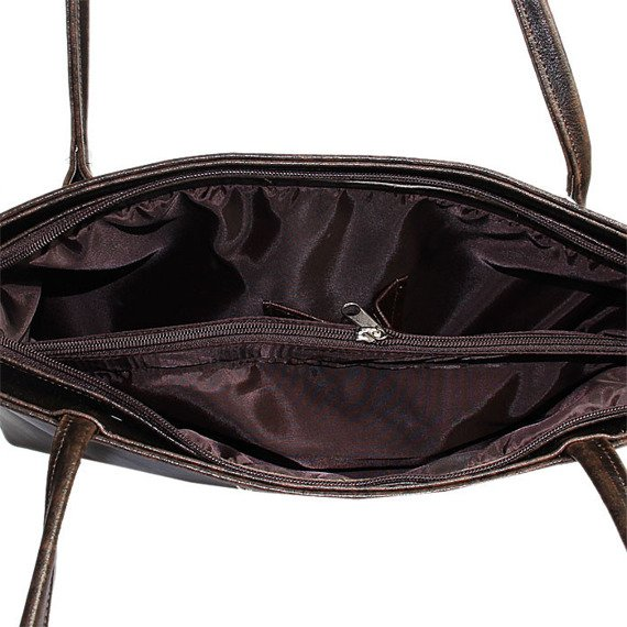 DAN-A T75 czekoladowa torebka skórzana damska